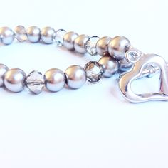Pearl and crystal bracelets for Mother's Day.  #glass and #crystal #necklace  #beadingbuds #mothersday #fashionista #fashionblog #fashion #fashionjewelry #style #streetstyle