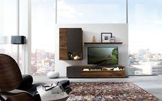 Modell NW770 U2013 Edles Massivholz Design Mit Hochwertig, Teilmatierten  Mattglas Akzenten. FurnierModernesHochwertigEinrichten ...