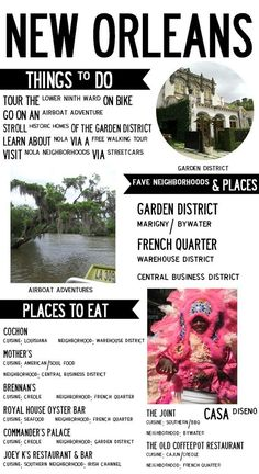 New Orleans Mini Travel Guide -I live in Nola and I approve of this list.  Especially the bike tour of the lower 9th ward, run by Confederacy of Cruisers.
