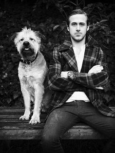 Ryan Gosling & dog
