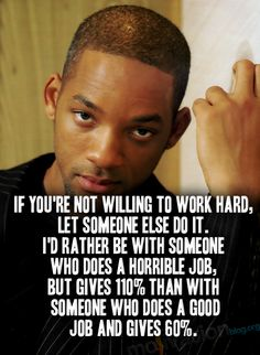 6. Your favorite inspirational quote  -  and another Will Smith quote, because it's so true to who I am and aspire to be.