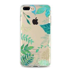 Green Leaves iPhone 7 transparent case, iPhone 6 case, iphone 6s plus case transparent clear case
