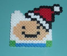 Christmas Finn the Human Ornament or Magnet perler beads by AccessoriesbyAK
