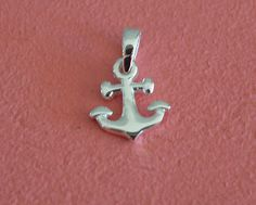 925 Sterling Silver Small Anchor Pendant - Small Anchor Pendant Charm