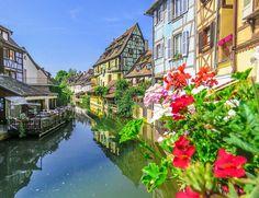 The little Venice, Colmar, Alsace, France. Best Vacation Destinations, Best Vacations, Fukuoka, East Sussex, Kuala Lumpur, Phuket, Gold Coast, Bangkok, Ilhas Raja Ampat