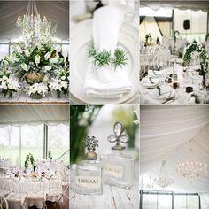 white on white flower arrangements Tent Wedding, Wedding Events, Our Wedding, Wedding Stuff, Wedding Ideas, Weddings, Vintage Wedding Theme, Floral Wedding, Wedding Flowers