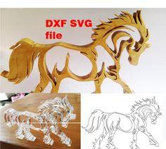 SVG, PDF et DXF fichiers à utiliser avec les machines lasers ou scie à chantourner.  Cheval très esthétique à decouper en bois, plexiglas ou autres.   Vous recevrez : 1 fichier SVG 1 fichier DXF 1 fichier PDF    Cet item est Téléchargement instantané : dès que le paiement est validé, vous pouvez télécharger vos fichiers directement depuis votre compte Etsy.