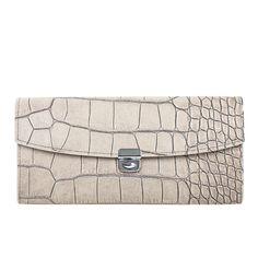 """Lira"" Kellnerportmonnaie in kroko kiesel Kiesel, Taupe, Women's Fashion, Purses, Bag, Pretty, Leather, Jewelry, Accessories"