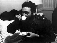 Fidel Castro Drinking Tea by Alberto Korda