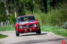 Up and away goes the 1965 Alfa Romeo 1600 GTA on the Tour Auto Rally (photo: Julien Mahiels)