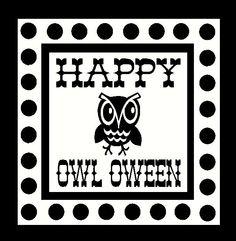 Happy Owl Oween vinyl decal