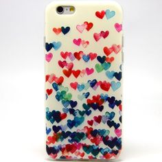 Amazon.com: iPhone 6 Case, iPhone 6 (4.7 Inch) Case - LUOLNH Fashion Style Colorful Painted Colorful Heart Shape TPU Case Back Cover Protector Skin For iPhone 6 4.7Inch(Colorful Heart Shape): Cell Phones & Accessories