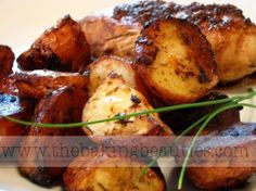 Balsamic Roasted Red Potatoes (friend made it with marinated pork tenderloin and fresh green beans...sounds like the makings for a great dinner)