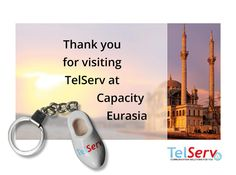Thanks for visiting TelServ at Capacity #Eurasia 2014! See you soon in #moscow for #Capacity #Russia