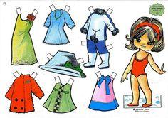 Lindas bonecas de papel para imprimir, todas grátis! Aproveite e brinque de bonecas neste Dia das Crianças.