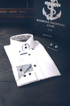 Barbosa white elegant shirt. #yachtingclub #Barbosa #Elegant #Clothing #Elegance #tie #bowtie www.barbosa.rs