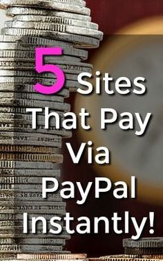 Do you want to make money online? There're are so many ways to make an extra income, but not all are created equal. Here're 5 sites that pay via PayPal instantly!