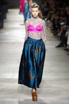 Dries Van Noten Runway Pink Bralet
