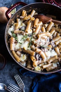 One pot creamy - french onion soup meets pasta bake - perfect cozy December meal. Find this recipe and more at halfbakedharvest.com