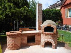 Backyard Bbq Pit, Fire Pit Patio, Small Backyard Landscaping, Outdoor Cooking Area, Pizza Oven Outdoor, Simple Outdoor Kitchen, Outdoor Kitchen Design, Outdoor Hanging Bed, Parrilla Exterior