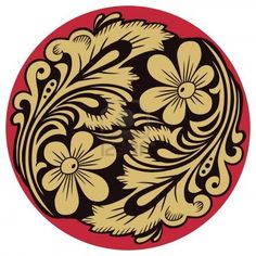 Vegetable pattern in traditional russian motive of the round form. Stock Photo - 6292819
