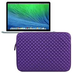 Evecase Premium Neoprene Sleeve Case Travel Carrying Storage Computer Bag for Apple MacBook Pro 15'' / 15.4-Inch Laptop with Retina Display ME293LL/A / ME294LL/A - Purple Evecase http://www.amazon.com/dp/B00LUI86IY/ref=cm_sw_r_pi_dp_eRtwub0TWJS9M