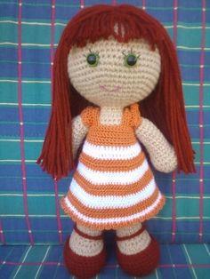 Patronesamigurumi.org es el mayor banco de patrones amigurumi en español. Haz click y descubre los mejores patrones de la red! Knitted Doll Patterns, Knitted Dolls, Crochet Dolls, Easy Crochet Patterns, Crochet Hats, Cute Crochet, Crochet Motif, Crochet Flowers, Baby Knitting