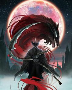 Bloodborne Hand & Bath Towel by Jose Ochoa - Hand Towel Dark Blood, Blood Moon, Blood Art, Dark Fantasy Art, Dark Art, Anime Fantasy, Arte Dark Souls, Bloodborne Art, Arte Obscura