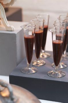 FRANGELICO AND LIQUID CHOCOLATE SHOTS