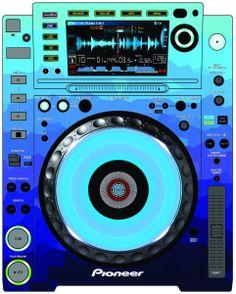 Pioneer CDJ 2000 Remix Art Contest Djs love art too and artists love music. Pioneer Cdj 2000, Pioneer Dj, Dj Setup, Dj Gear, Dj Party, Dj Remix, Dj Booth, Dj Equipment, House Music