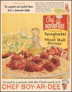 CHEF BOY-AR-DEE SPAGHETTI DINNER - LIFE 05/05/1961