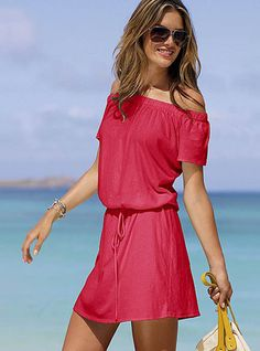 Babydolloff-the-shoulder Tee Dress - Trend  Beach Dresses  Victoria's Secret Collections