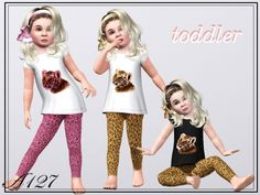 Night and Day Set Pajamas and slippers by Altea127 - Sims 3 Downloads CC Caboodle