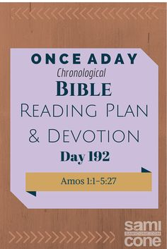 Once A Day Bible Reading Plan & Devotion Day 192