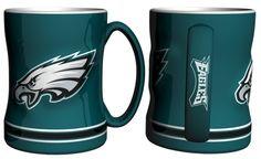 Philadelphia Eagles Coffee Mug - 14oz Sculpted Relief