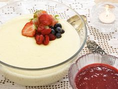 European Cuisine, Pudding Desserts, Recipe Boards, Panna Cotta, Food And Drink, Sweets, Lunch, Baking, Dinner
