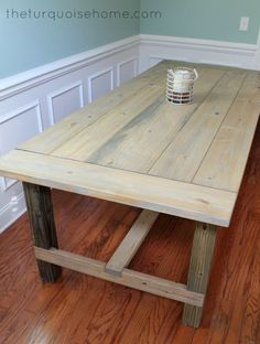 DIY Farmhouse Table - Dining Room, Farmhouse, Table
