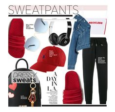 """""""Comfort is Key: Sweatpants"""" by kusja ❤ liked on Polyvore featuring adidas, Love Moschino, Beats by Dr. Dre, Balenciaga and sweatpants"""
