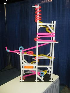 the finished long beach paper roller coaster