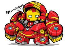 Chibi Hulkbuster by KevinRaganit on DeviantArt Baby Marvel, Chibi Marvel, Baby Avengers, Marvel Dc Comics, Marvel Heroes, Chibi Superhero, Comic Book Characters, Marvel Characters, Iron Man Hulkbuster