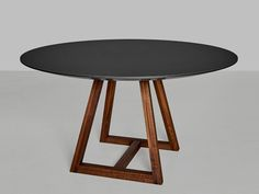 Plywood Furniture, Home Furniture, Round Dining Table Modern, Tube Acier, Banquette, Home Living Room, A Table, Vitamins, Interior Decorating