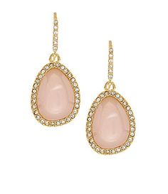 Lauren Ralph Lauren Rose Quartz Pave Drop Earrings at Dillard's
