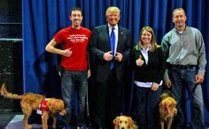 Donald Trump Just Donated $300k To A Group That Trains Dogs For Military Vets