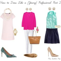 How to Dress Like a {Young} Professional by misssouthernprep on Polyvore featuring J.Crew, Juicy Couture, Tory Burch, Jimmy Choo, MICHAEL Michael Kors, Links of London, Kate Spade and Michael Kors