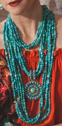 Multi-Turquoise Long