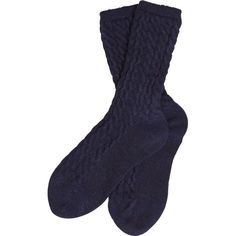 Women's Barbour Ursula Cable Socks - Navy ($12) ❤ liked on Polyvore featuring intimates, hosiery, socks, navy blue socks, chunky cable knit socks, cable sock, navy blue hosiery and patterned hosiery