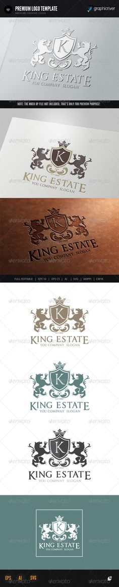 King Estate Logo #GraphicRiver This logo design for all creative business. Consulting, Excellent logo,simple and unique concept. Logo Template Features AI and EPS (Illustrator 10 EPS) 300PPI CMYK 100% Scalable Vector Files Easy to edit color / text Ready to print Font information at the help file If you buy and like this logo, please remember to rate it. Thanks! Created: 7October13 GraphicsFilesIncluded: VectorEPS #AIIllustrator Layered: No MinimumAdobeCSVersion: CS Resolution: Resizable…