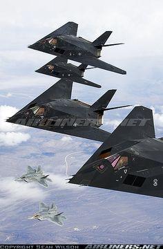 F-117A Nighthawk & F-22 Raptor