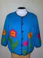 Price $14.00 Maggie Barnes Petites Jacket. Womens size 24 petites. The colors on this are just beautiful. Lined in black 100v polyester. Outer materia...