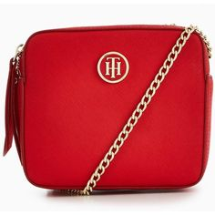 Tommy Hilfiger Icon Camera Crossbody Bag (190 AUD) ❤ liked on Polyvore  featuring bags, handbags, shoulder bags, red crossbody, tommy hilfiger  crossbody, ... 54b71d010b